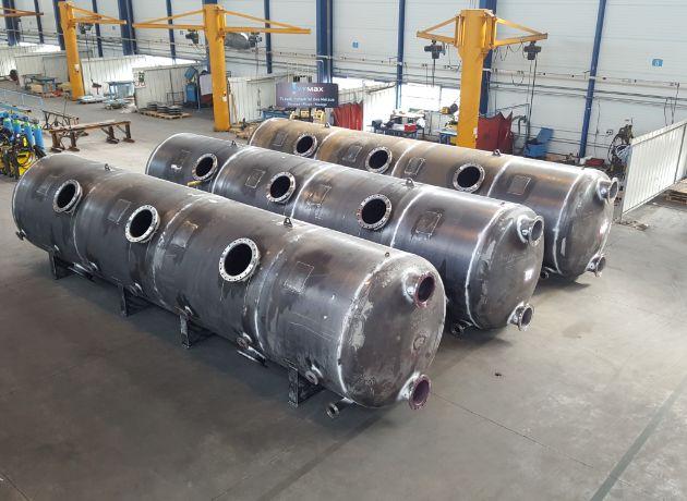 Image de 3 cuves produites par Oxymax pour le secteur chaudronnerie, cuves et appareils sous pression