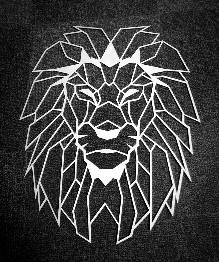 découpe laser pièce design lion