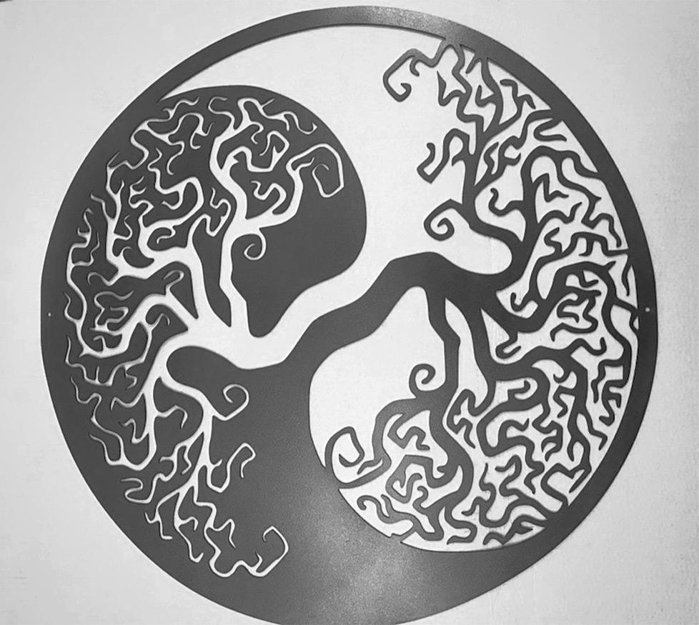 decoupe laser piece design arbre
